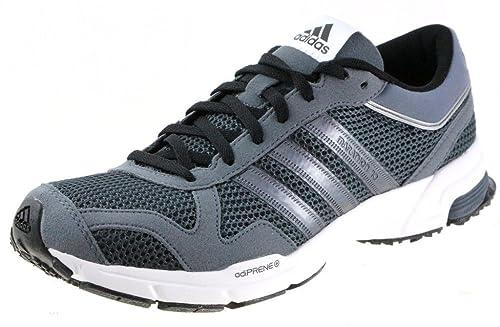 promo code c014f 74cdb Adidas Performance Hombre Marathon 10 m Estados Unidos Zapatilla de Running,  Gris Blanco,
