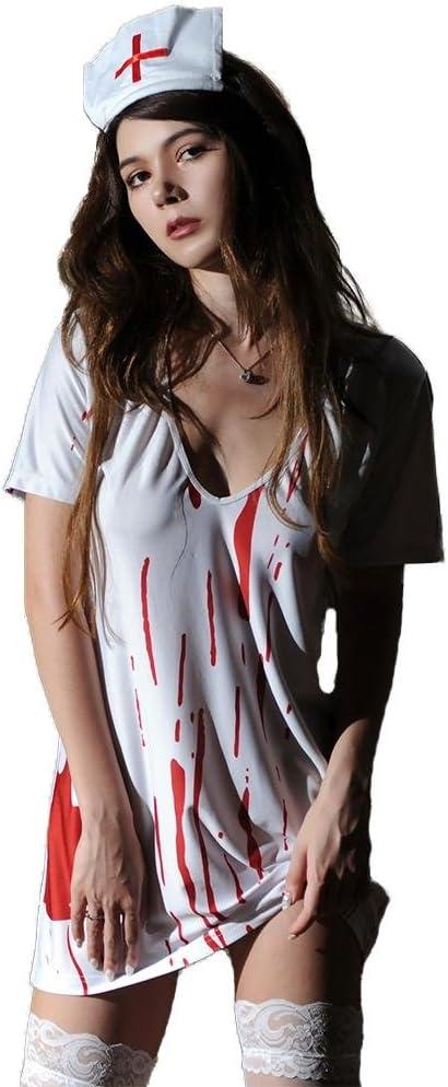 SASA Disfraz de Halloween Enfermera de la Sangre Mujeres Vestido ...