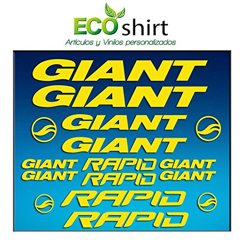 Ecoshirt 5B-RQ62-XMWS Stickers Frame Giant Rapid Am29 Stickers Aufkleber Decals Adesivi Bike BTT MTB Cycle, Yellow