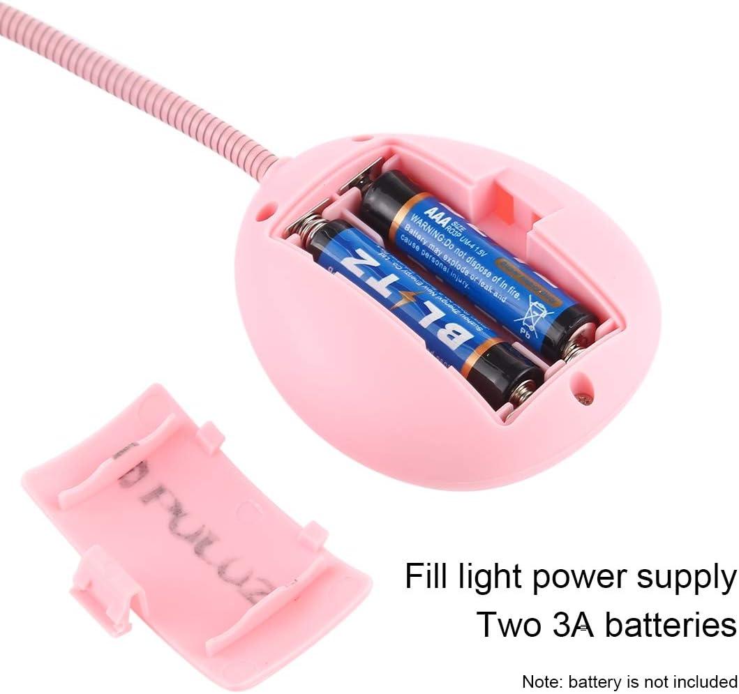 Color : Pink Pink Phone Clamp Holder Hot Broadcast LED Weak with 1//4 inch Screw Yangjingya Phone Stand Mini Pocket Desktop Tripod Mount