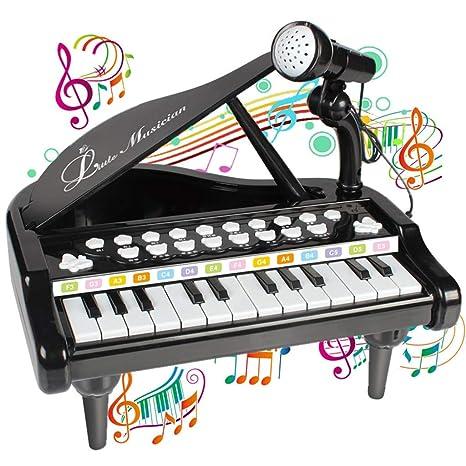 Fcostume Piano Teclado Juguete para niños 1 2 3 4 años Niña Primer Regalo de cumpleaños