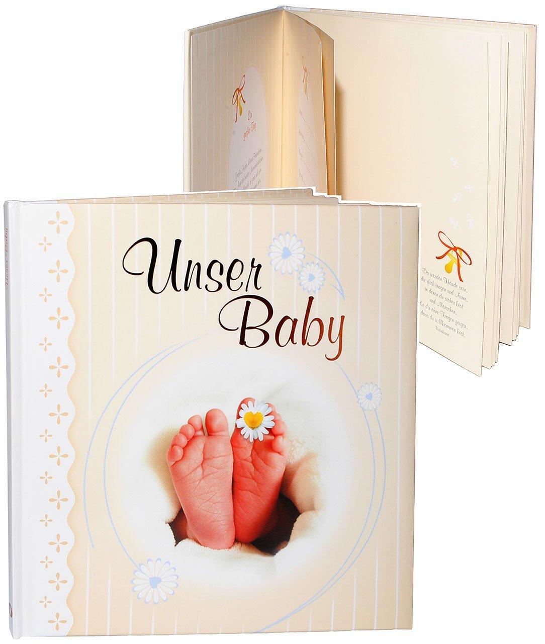 alles-meine.de GmbH Erinnerungsalbum / Babytagebuch / Fotoalbum - Unser Baby - Incl. Name - Ge..