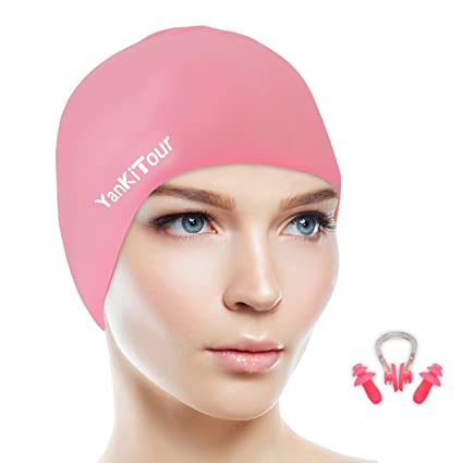 a95761b5e15 Amazon.com   YanKiTour Swim Cap