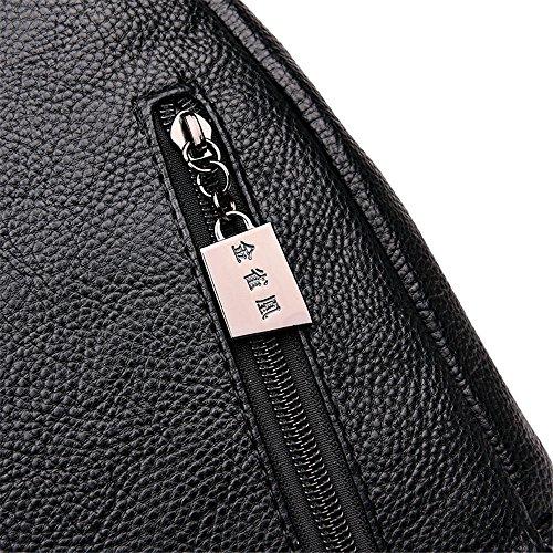 viaggio Zaino Borsa cm nero 32 da tasca donna marrone Moda 10 26 Borsa casual da Borsa da rrp0w4