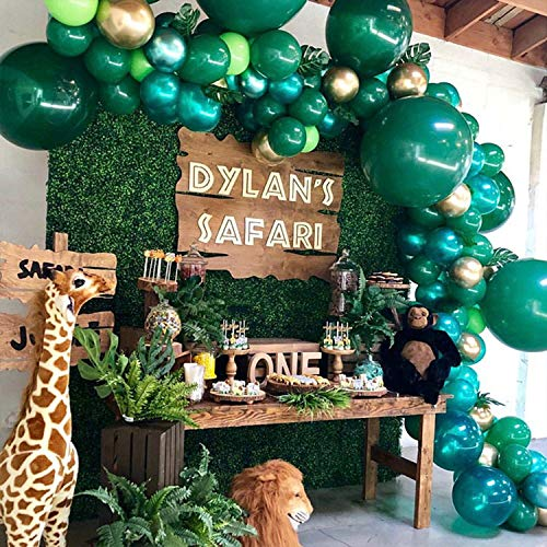 Safari Party Supplies, Jungle Theme Party Decorations Kit For Birthdays, Baby Shower, Christmas Party with 170 Pcs Party Balloons Palm Leaves Favors