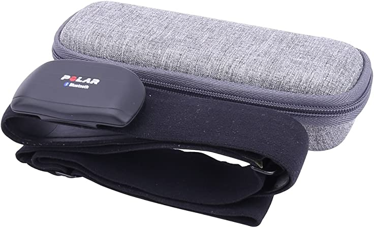 for Polar Heart Rate Sensor//Monitor// Fitness Tracker Chest Strap Hard Case fits H7//H10//Wearlink by Aenllosi Black
