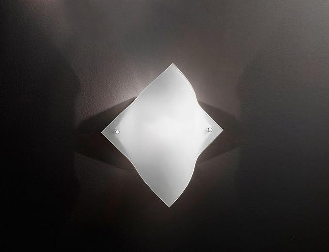 Applique a parete perenz modello applique realizzato in vetro