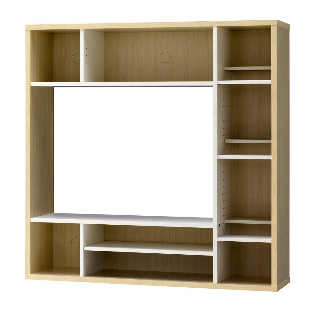 壁面収納 テレビ台 テレビボード TV台 TVボード AVボード 32型 木製 テ/ホワイト(WH) B06XDN5W3Y ホワイト(WH)