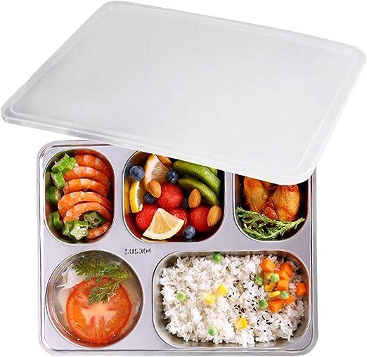 Caja de almuerzo, aiyoo 304 Acero inoxidable alimentos contenedor ...