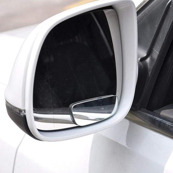 Espejos para Puntos Ciegos sin Marco de 360 /° con Espejo de Cristal HD Ajustable Que maximiza la visi/ón Trasera del Coche SDGDFXCHN