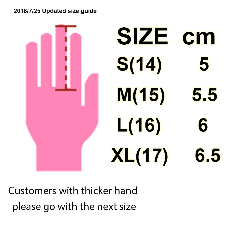PGM Youth Kid Children Golf Glove One Pair, Improved Grip System, Cool and Comfortable (S(14))