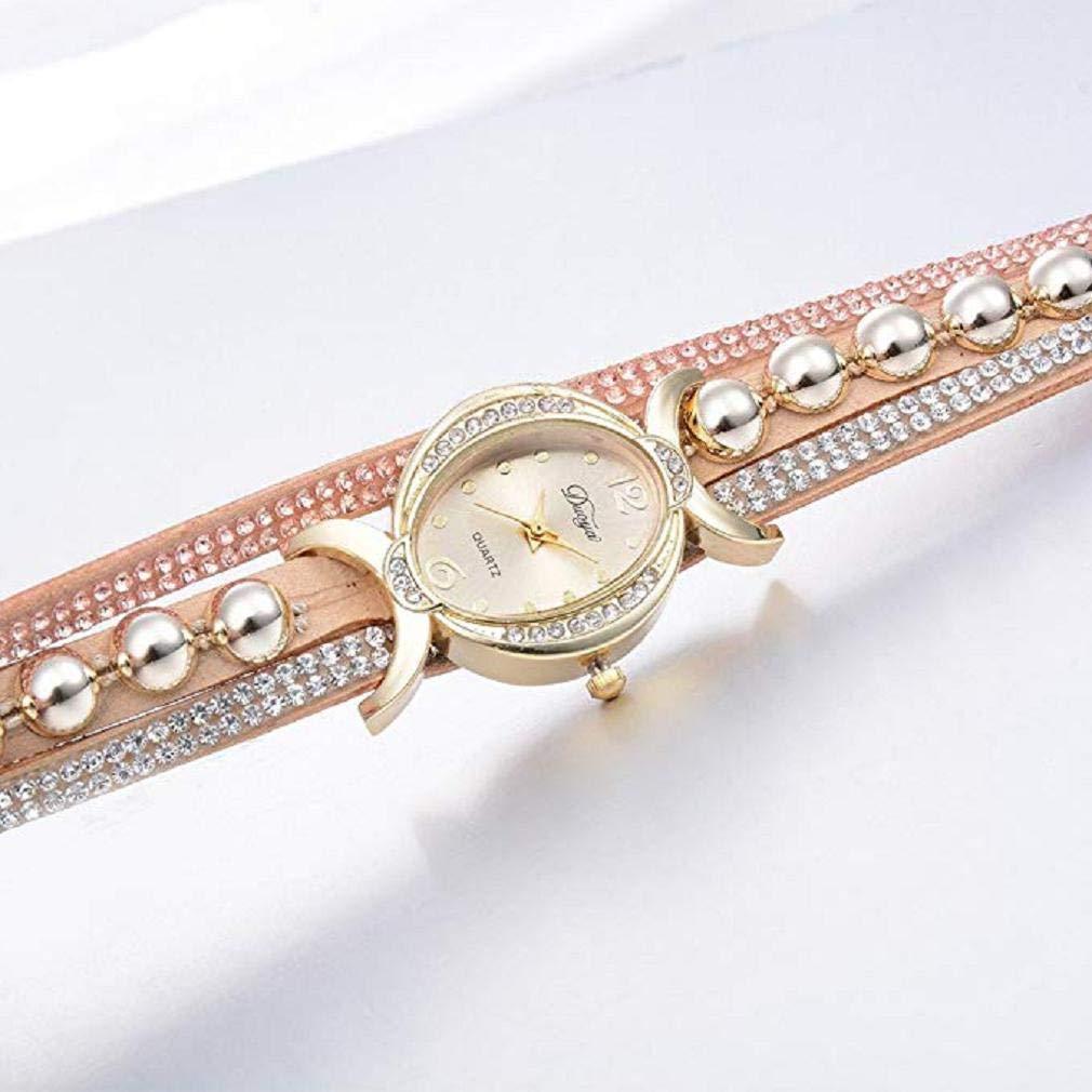 Rhinestone Bracelet Watch, Reloj de Moda de Lujo a la Venta Liquidación Relojes para Mujer Relojes de Pulsera para Mujeres (Marrón): Amazon.es: Relojes