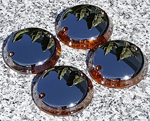 i5 Full Chrome Turn Signal Lenses for Kawasaki Vulcan 500 750 800 1500 Classic Nomad (Vulcan Nomad)