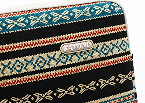 Kayond Canvas Water-Resistant 13 inch Laptop Sleeve -13 inch 13.3 inch Laptop case,12.9 inch Tablet Case Compatible MacBook(13-13.3 inches, New Bohemian) by kayond (Image #8)