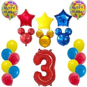 Shopama globos decoraciones de cumpleaños 3 años ratón bebé ...
