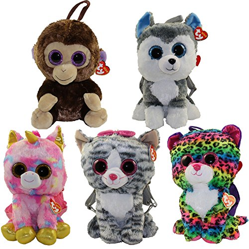 TY Gear Backpacks - SET of 5 FALL 2017 Releases (13 inch) (Fantasia, Kiki, Coconut, Slush & Dotty) by TY Gear