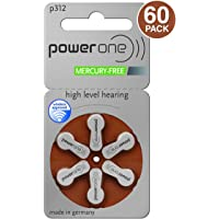 120 x Power One P312 Hearing Aid Batteries