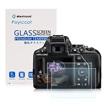 Nikon D3300 D3200 LCD Protector de pantalla de cristal templado 9H Dureza óptico de besyee, 0,33 mm ultrafina DSLR hombro de la cámara de vidrio ...