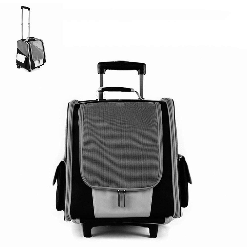 DZENJ Pet Backpack Trolley Bag Can Be Shoulders Oxford Cloth Aluminum Alloy Lever Lock Buckle Pet Up To 7.5kg 35  29  37  93cm