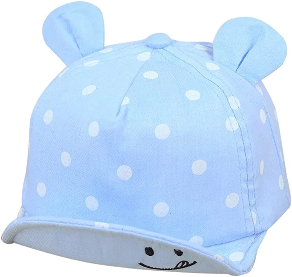 Mandy-Store Baby Girls Boys Baseball Caps Casual Smiling Face Sun Hats Toddler Kids Wave Point Sunhat Cap