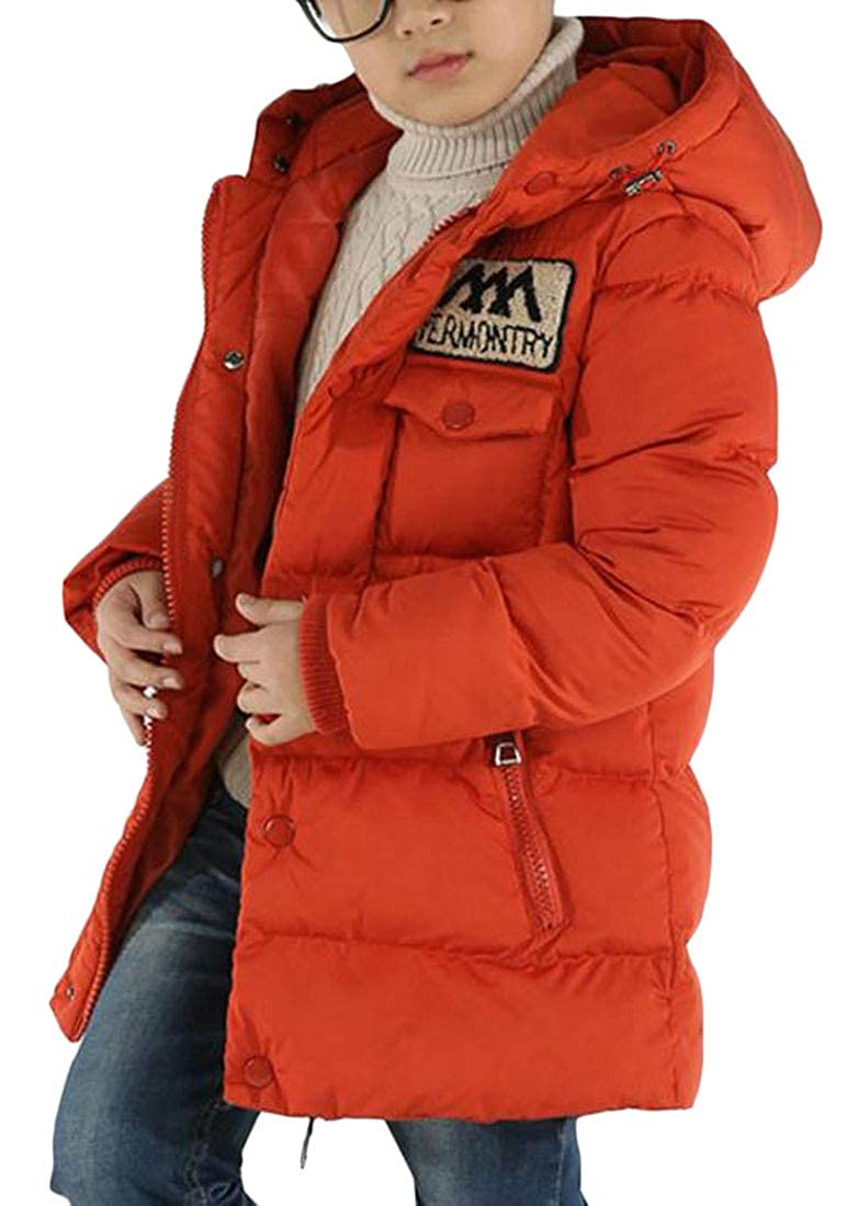 Agana Big Boys Hooded Quilted Winter Thicken Puffer Parka Coat Jacket