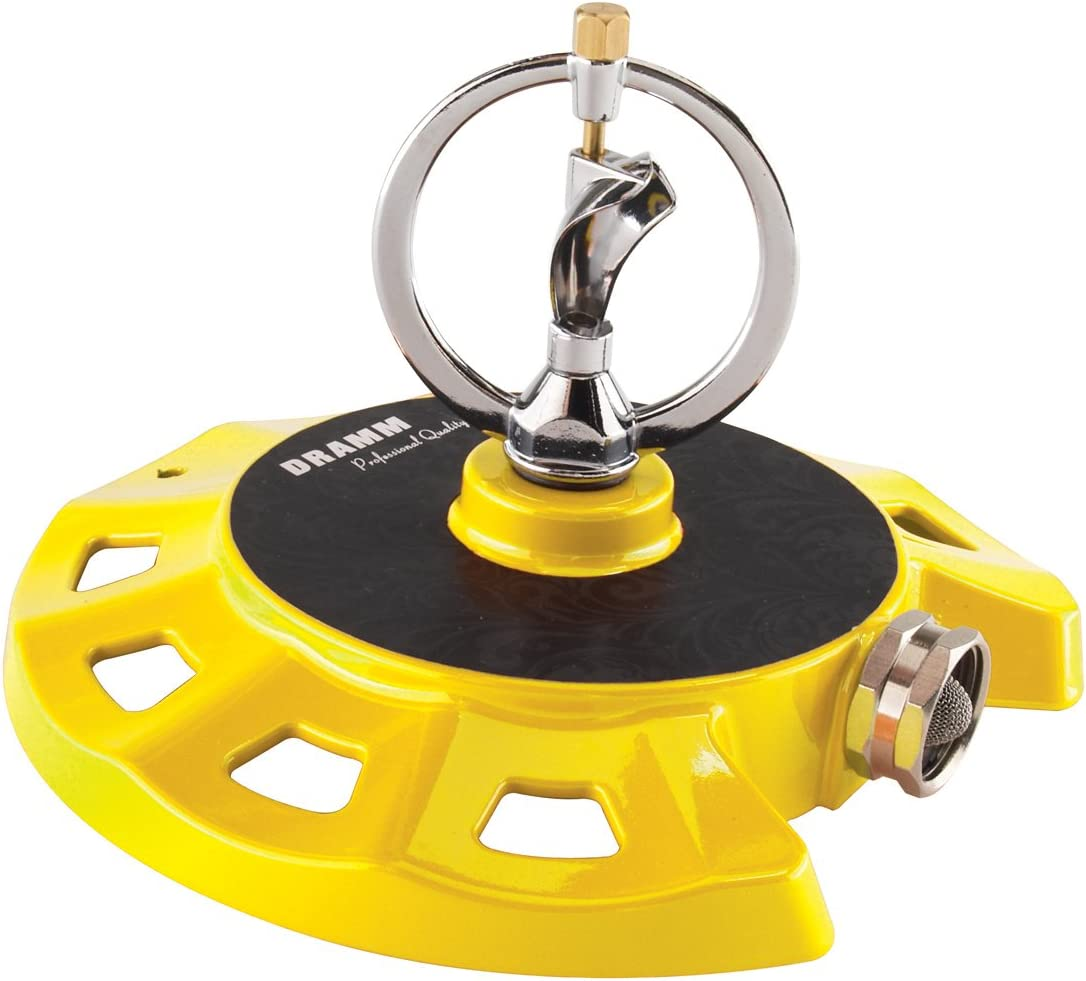 Dramm 15073 ColorStorm Spinning Sprinkler, Yellow