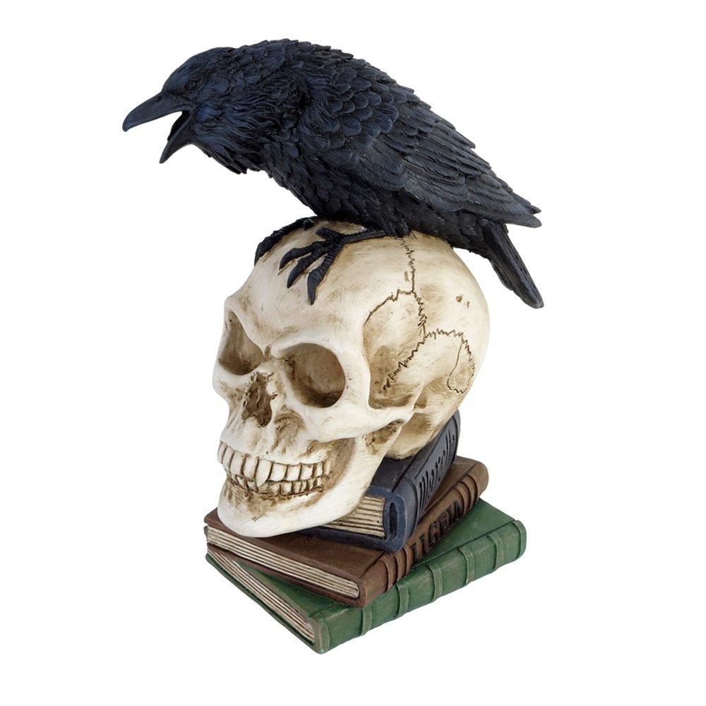 Statuetta Poes Raven Alchemy Gothic (20.3 Cm) V17