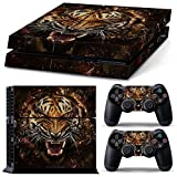 Full Skin Sticker Faceplates for PS4 Console x 1 and Controller x 2 (Beast)