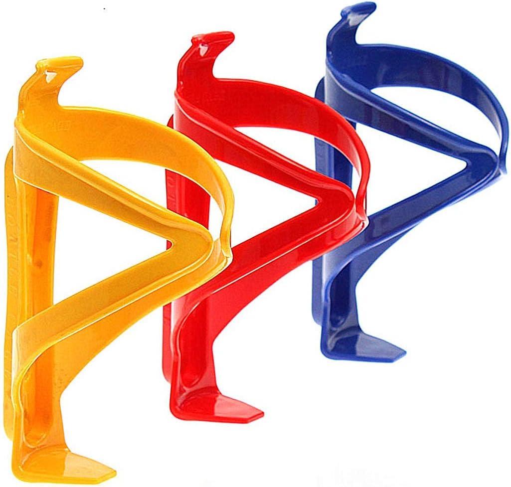 DINGDA Soporte de Botella de Bicicleta de 3 Piezas, Soporte de Vaso de Bicicleta de plástico, Bicicletas aptas, Bicicletas de montaña, cochecitos y Silla de Ruedas (Color Mixto)