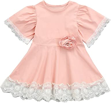 Toddler Infant Kids Baby Girls Lace Ruffles Longsleeve Tulle Princess Dress Casual Wear Dream Room Dresses