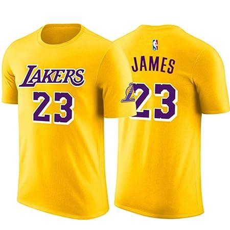 ENTHUSIAST Camiseta para Hombre NBA L.A Lakers James # 23 Short De ...