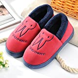 Aemember Bag Of Cotton Slippers With Couples Home Soft Thick Bottom Bottom Skid In Winter Indoor Home Furnishing Shoes,38-39 (Fit For 37-38 Feet),Wine Red (Quan Bao)