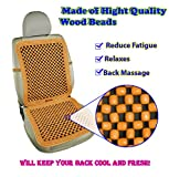Zento Deals Pair Natural Beaded Convenient Massage Cushion