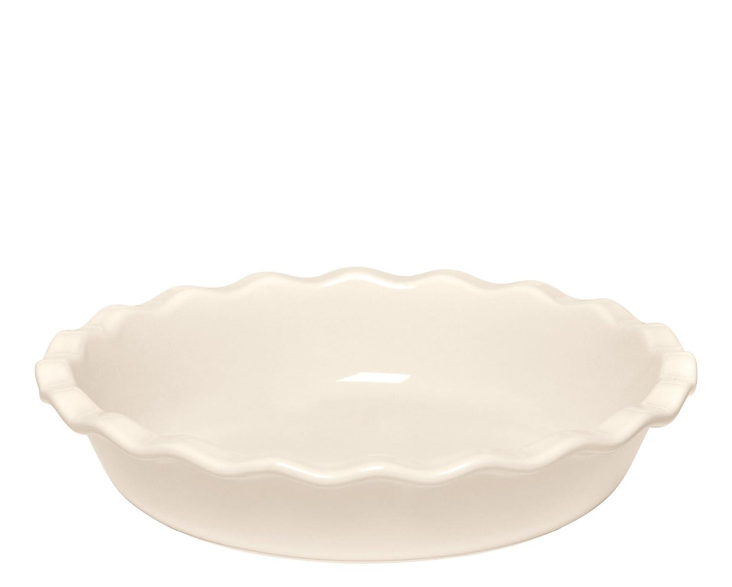 Emile Henry 91026131 Pie Dish 26cm/10-Inch 1.4L/1.5qt, Argile EH026131