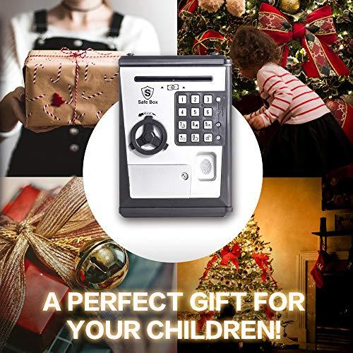 LIKE Toy Piggy Bank Safe Box Fingerprint ATM Bank ATM Machine Money Coin Savings Bank for Kids by LIKE (Image #4)