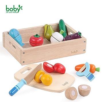 Spielzeug Holztablett Frühstück Kinderküche Holz Kaffee Kuchen