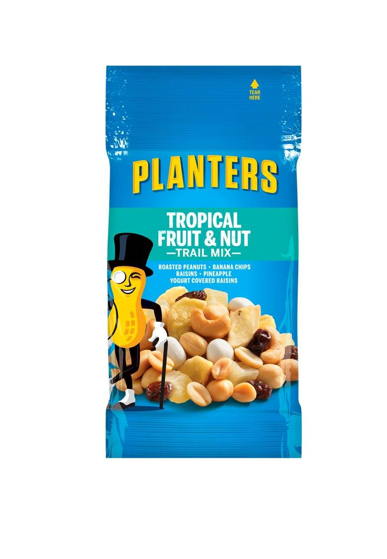 Planters Fruit and Nut Trail Mix, 2 oz.  Single Serve Bags (Pack of 72)
