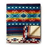 "Ecuadane Southwestern Large blanket made in Ecuador 82"" x 93"""