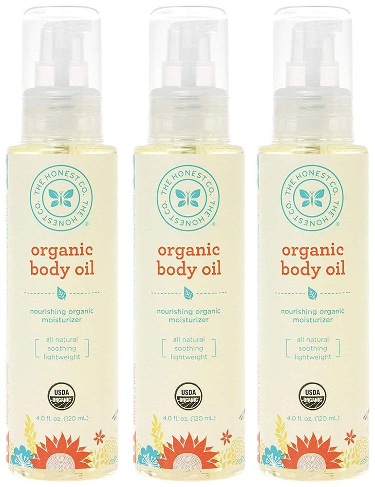 Honest Organic Body Oil, 4 Ounce (3 Bottles) by The Honest Company