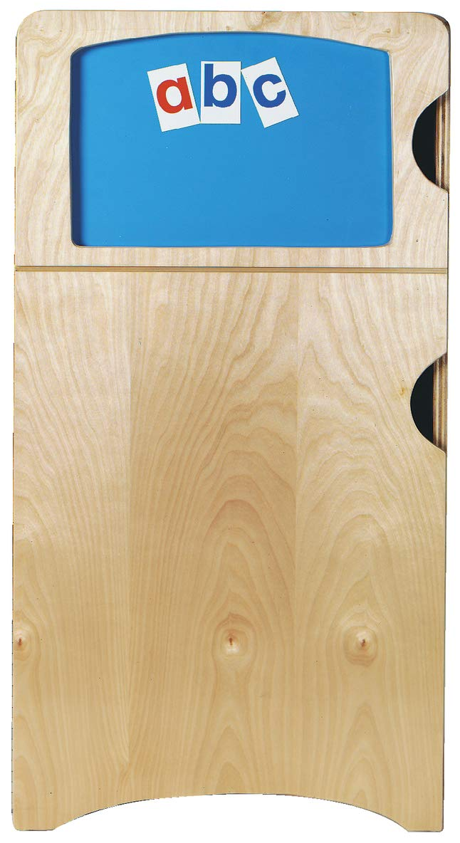 Korners for Kids 250143 Refrigerator with Magnetic Activity Panel, Oak, 38'' x 14-1/4'' x 19'', Natural Wood Tone