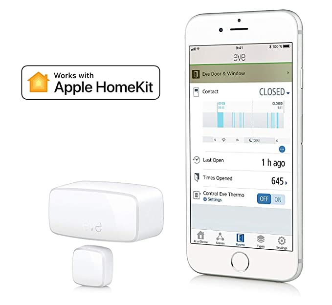 Amazon.com : Eve Door & Window - Wireless Contact Sensor with Apple HomeKit Technology, Bluetooth Low Energy (2 Pack) : Camera & Photo