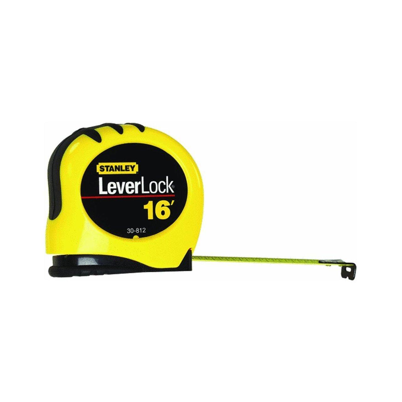 "Stanley STHT30812 Lever Lock Tape Rule 16/' x 3//4/"""