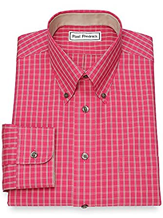 paul fredrick men 39 s non iron cotton tattersall dress shirt