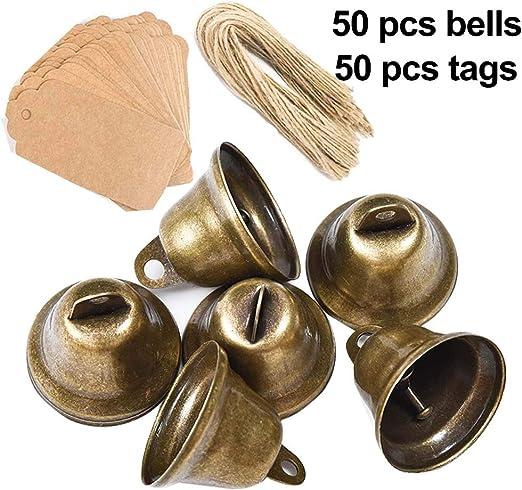 100 Stück Für Hochzeit kleine Glocken Weihnachten zum Basteln Glöckchen