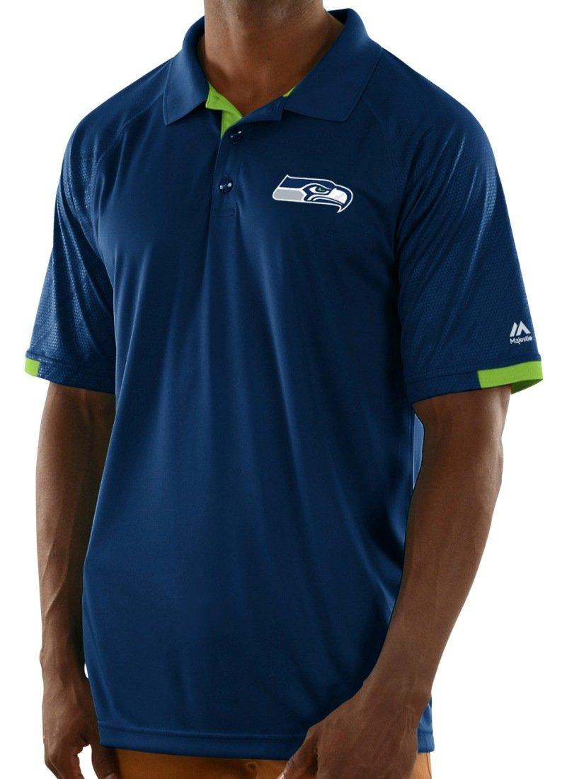 Amazon.com   Majestic Seattle Seahawks Mens Club Seat Polo   Sports    Outdoors ff7292f79