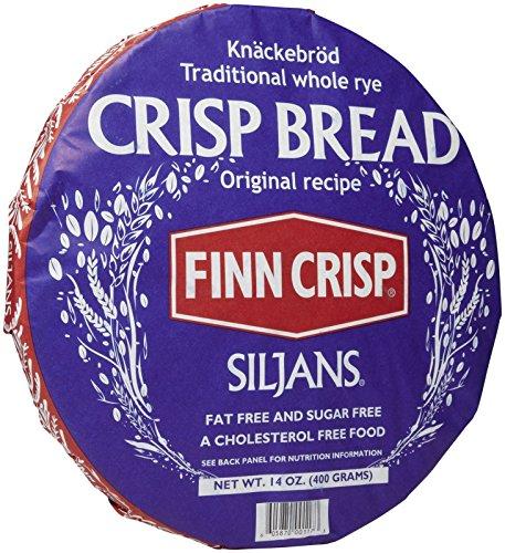 Finn Crisp Siljans Traditional Whole Rye Crisp Bread, 14 Ounce by Siljans