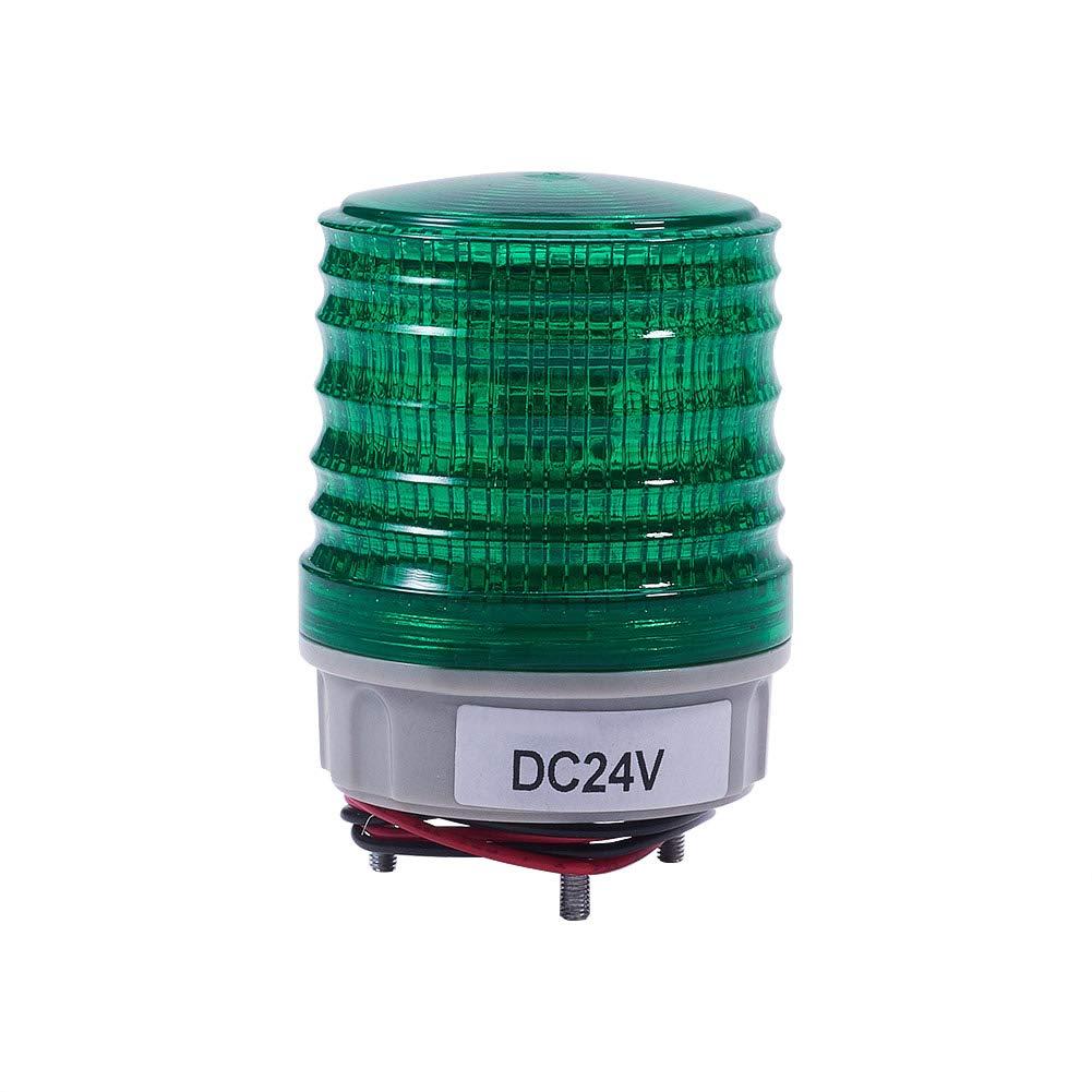 Othmro DC 220V Blue Flash Signal Lamp Bright Industrial Light Warning Light