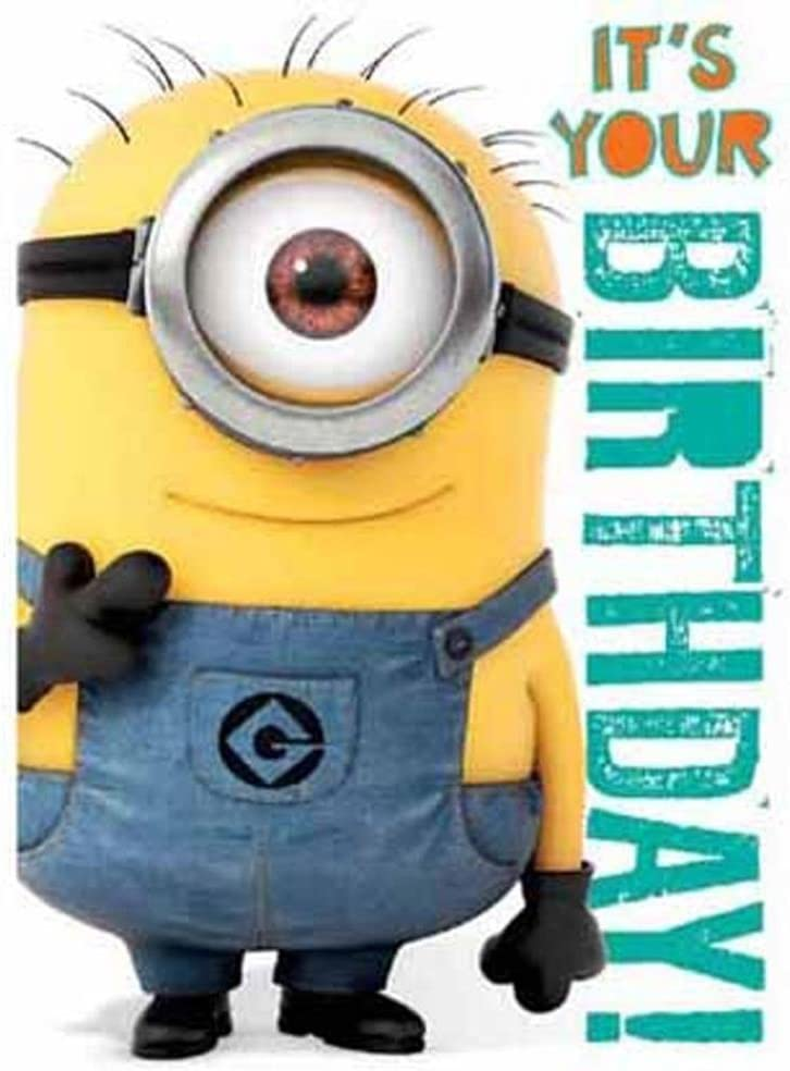 Official Despicable me Minions Birthday Card with Recorded Minion Laughing