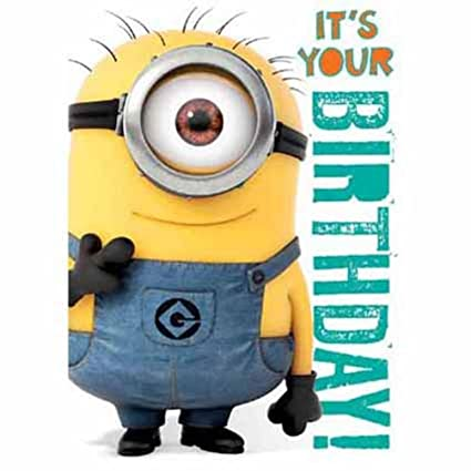 Amazon Official Despicable Me Minions Birthday Card With