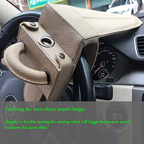 Universal Heavy Duty Car Van Steering Wheel Lock Anti Theft Security Device (Genuine Leather protection) by Keeping (Image #4)